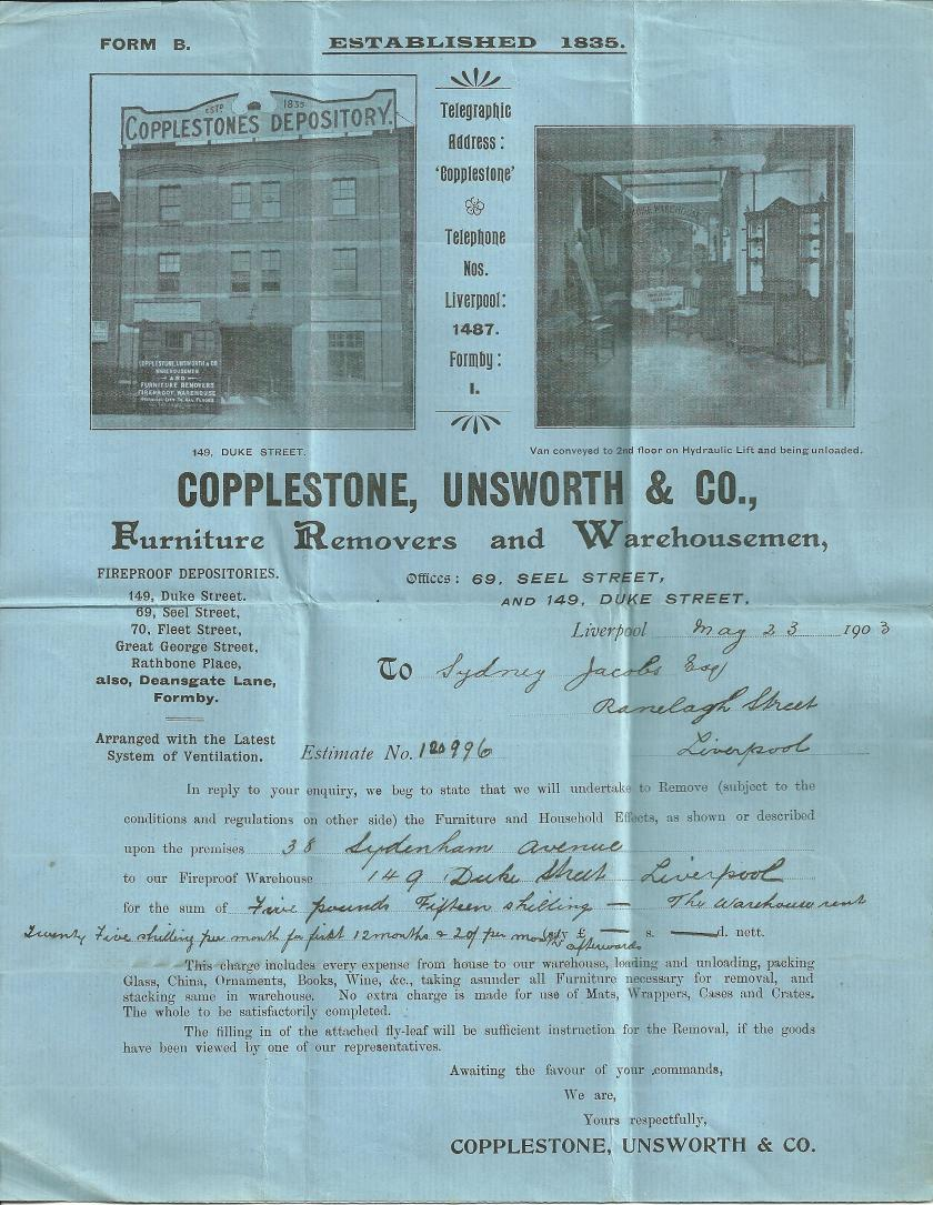 Copplestone Unsworth Depository Note 1